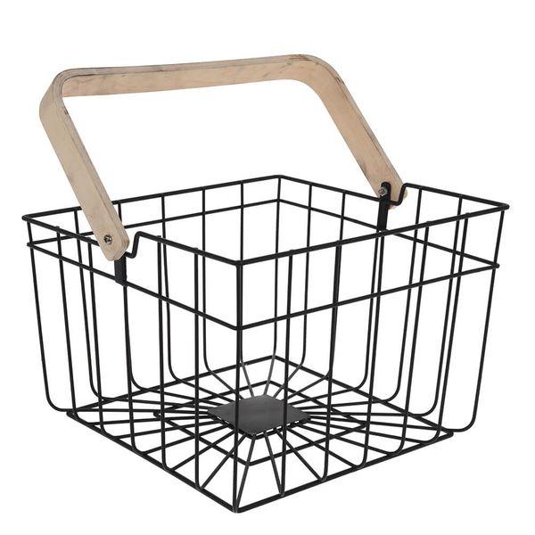 Cesta-Organizadora-de-Metal-com-Alca-de-Bambu-18X26X26CM