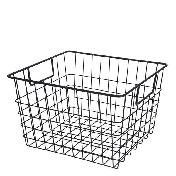 Cesta-Organizadora-de-Metal-Preta-19X29X32CM