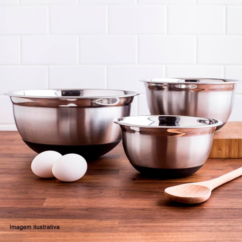 Bowl de Aço Inox com Silicone 21CM