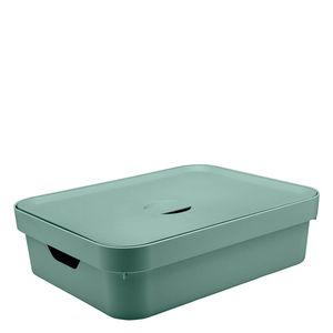 Cesta-Organizadora-Plastica-Cube-OU-Tampa-Verde-Eucalipto-35X45X13CM
