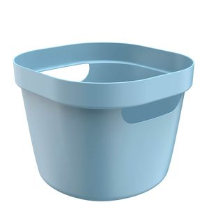 Cesta-Organizadora-Plastica-Flexivel-Cube-OU-Azul-Glacial-21X20X16CM