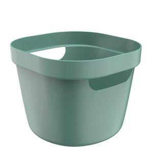 Cesta-Organizadora-Plastica-Flexivel-Cube-OU-Verde-Eucalipto-21X20X16CM