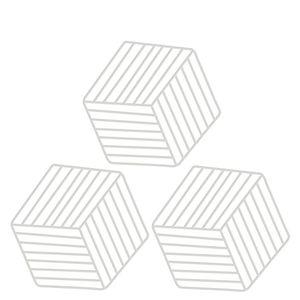 Descanso-de-Panela-de-PVC-Cinza-Claro-3PCS-16X14CM