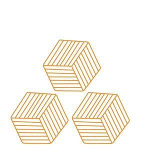 Porta-Copos-de-PVC-Mostarda-3PCS-11X10CM