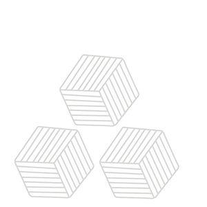 Porta-Copos-de-PVC-Cinza-Claro-3PCS-11X10CM