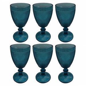 Taca-de-Vidro-para-Agua-Azul-350ML-6PCS