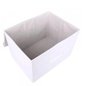 Caixa-Organizadora-de-Poliester-Exclusive-Branca-38X27X20CM