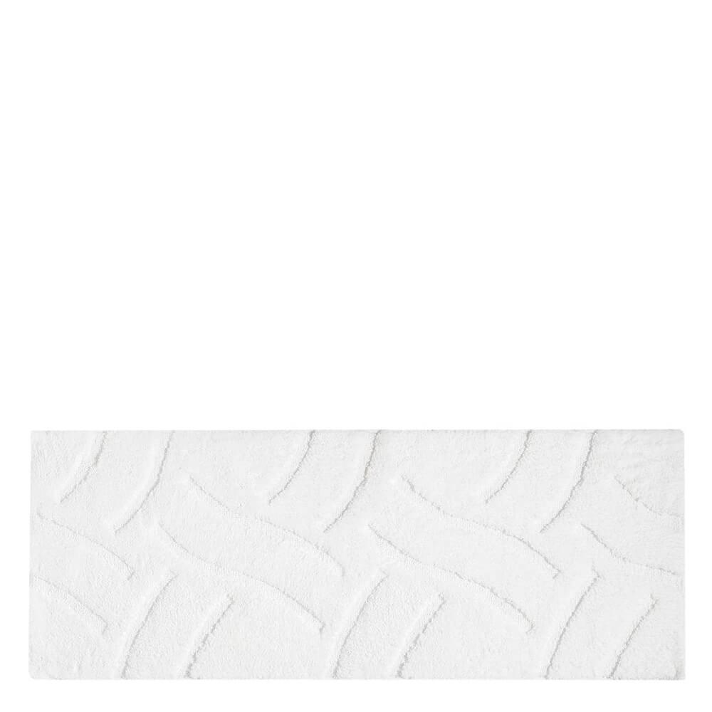 Passadeira Antiderrapante de Microfibra Felpuda Luxury Branca 140X50CM