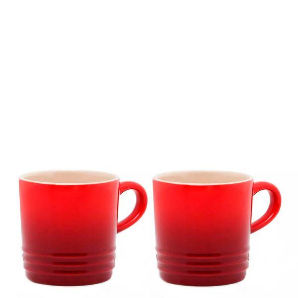 Caneca-de-Ceramica-Cappuccino-Le-Creuset-Vermelha-200ML