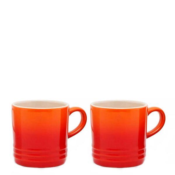 Caneca-de-Ceramica-Cappuccino-Le-Creuset-Laranja-200ML