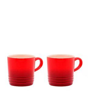 Caneca-de-Ceramica-Expresso-Le-Creuset-Vermelha-100ML