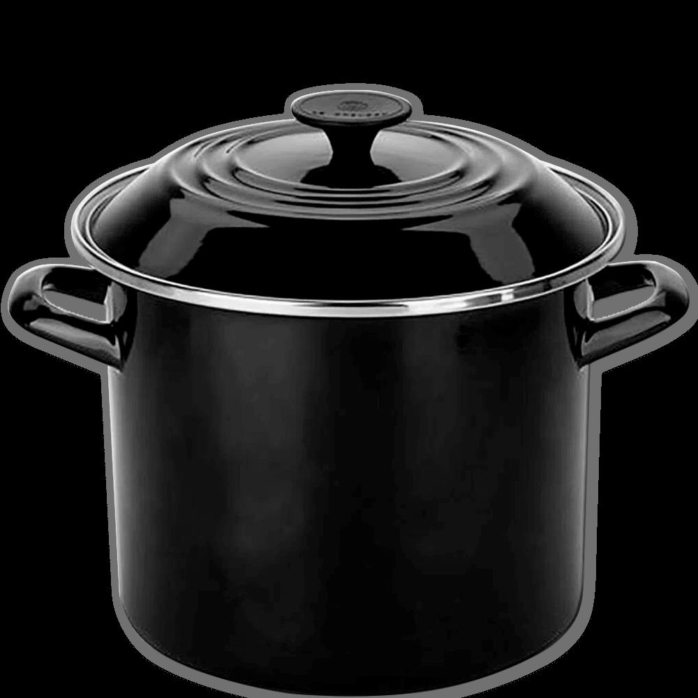Caldeirão Esmaltado Stock Pot Le Creuset Black Onyx 26CM