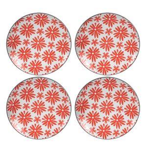 Prato-Sobremesa-de-Porcelana-Rosa-e-Branco-18CM