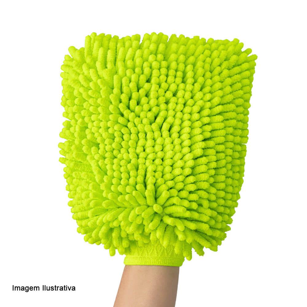 Luva de Microfibra para Limpeza Noviça Verde 23X19CM