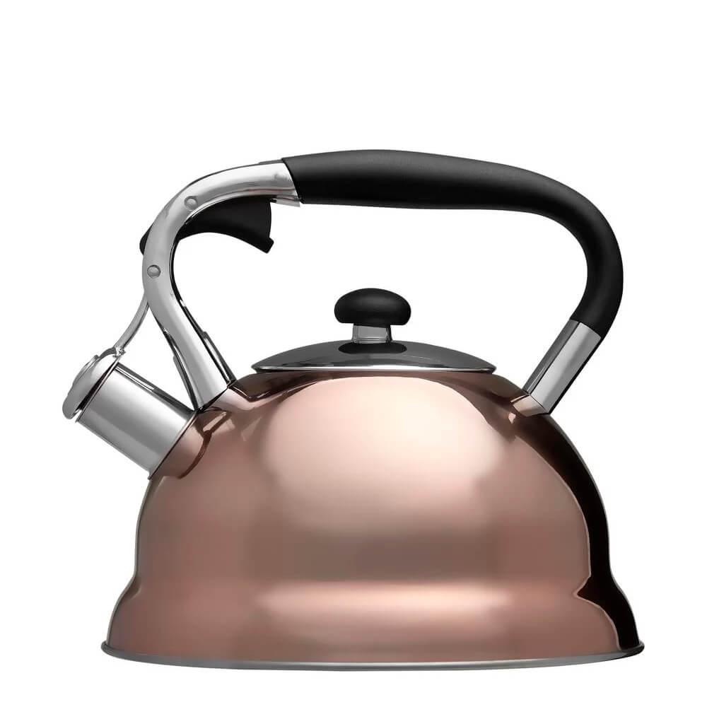 Chaleira com Apito de Aço Inox Bronze 3L