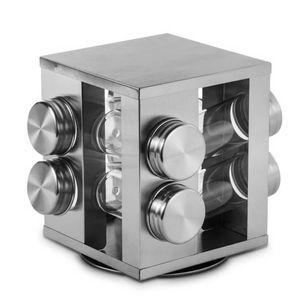 Porta-Condimento-de-Vidro-com-Base-Giratoria-de-Inox-17X19CM-8PCS