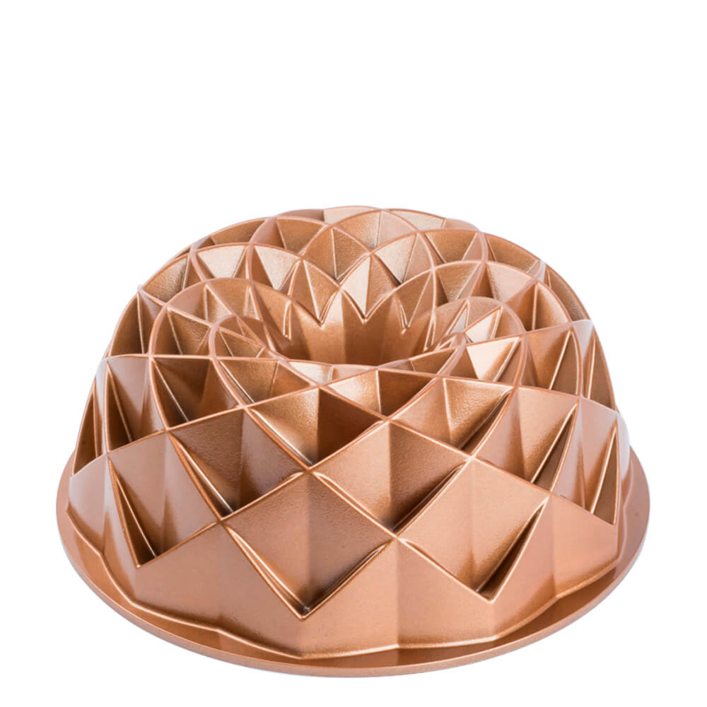 Forma Antiaderente de Alumínio Fundido Pandora Dourada 23,7X9,5CM
