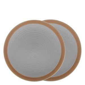 Prato-Sobremesa-de-Ceramica-Romance-Bon-Gourmet-Cinza-21CM-2PCS