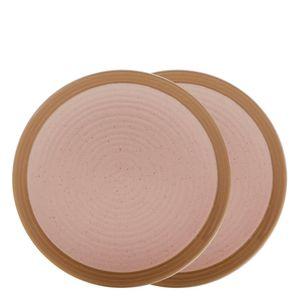 Prato-Sobremesa-de-Ceramica-Romance-Bon-Gourmet-Rosa-21CM-2PCS