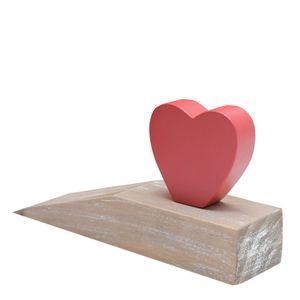 Aparador-de-Porta-de-Madeira-Heart-Vermelho-e-Bege-19X5CM