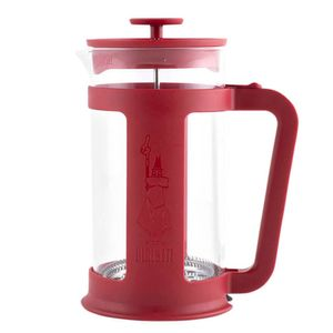 Cafeteira-Bialetti-French-Press-Basic-Vermelha-1L