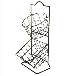 Fruteira-de-Metal-Grid-Basket-Preta-23X55CM