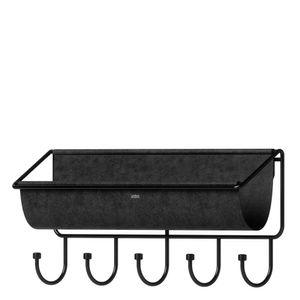 Organizador-de-Parede-de-Metal-Hammock-Umbra-Preto-41X17CM