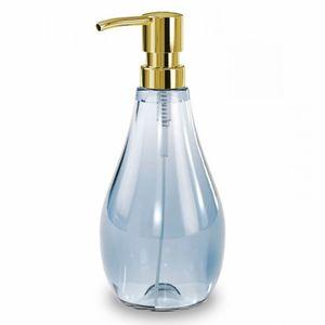 Porta-Sabonete-Liquido-de-Acrilico-Droplet-Umbra-Azul-280ML