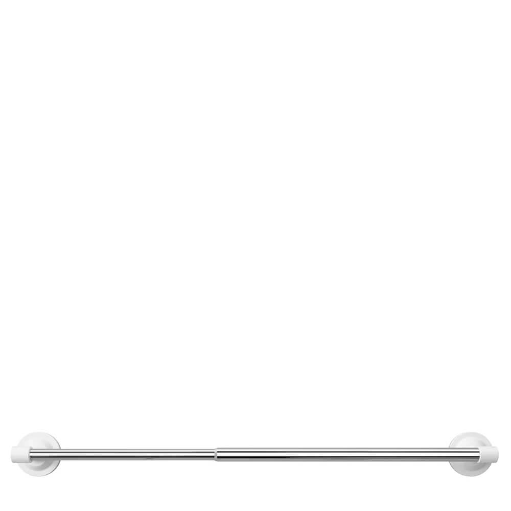 Porta Toalha Ajustável de Metal Umbra Cromado 66CM