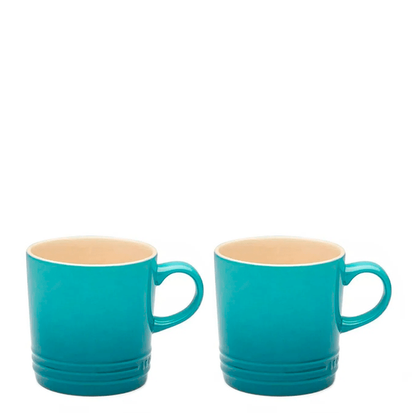Caneca-de-Ceramica-Cappuccino-Le-Creuset-Azul-Caribe-200ML