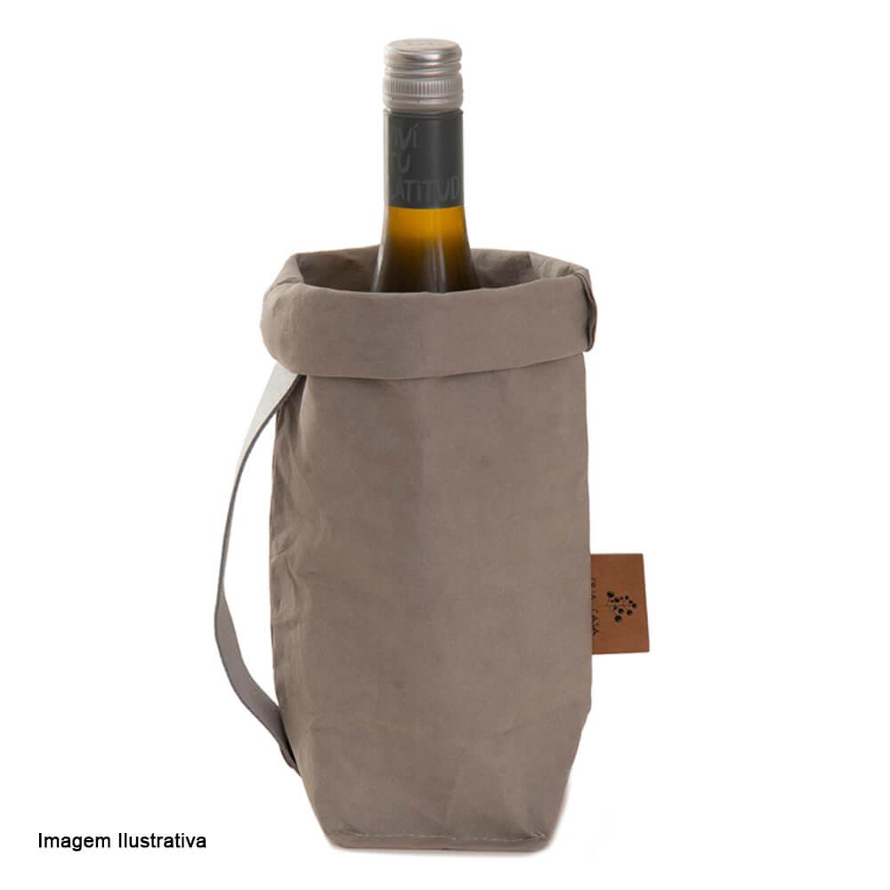 Porta Vinho Kraft Cinza 28X10CM