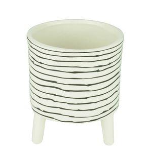 Cachepot-de-Ceramica-com-Pe-Black-Stripes-13X16CM