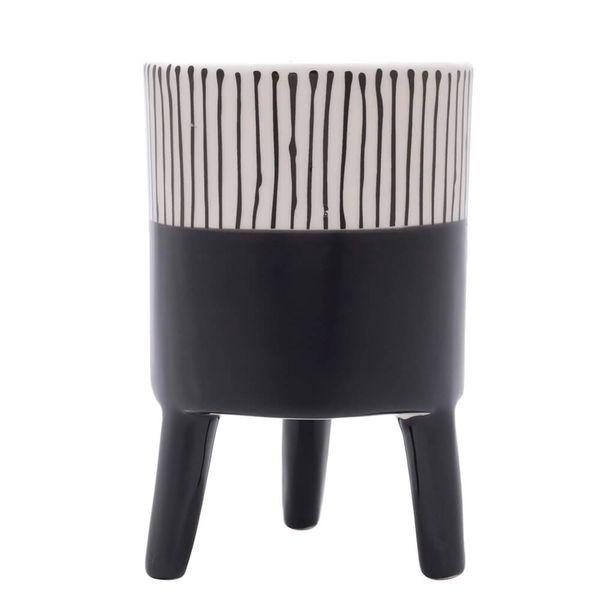 Cachepot-de-Ceramica-com-Pe-Bright-Preto-10X10X15CM