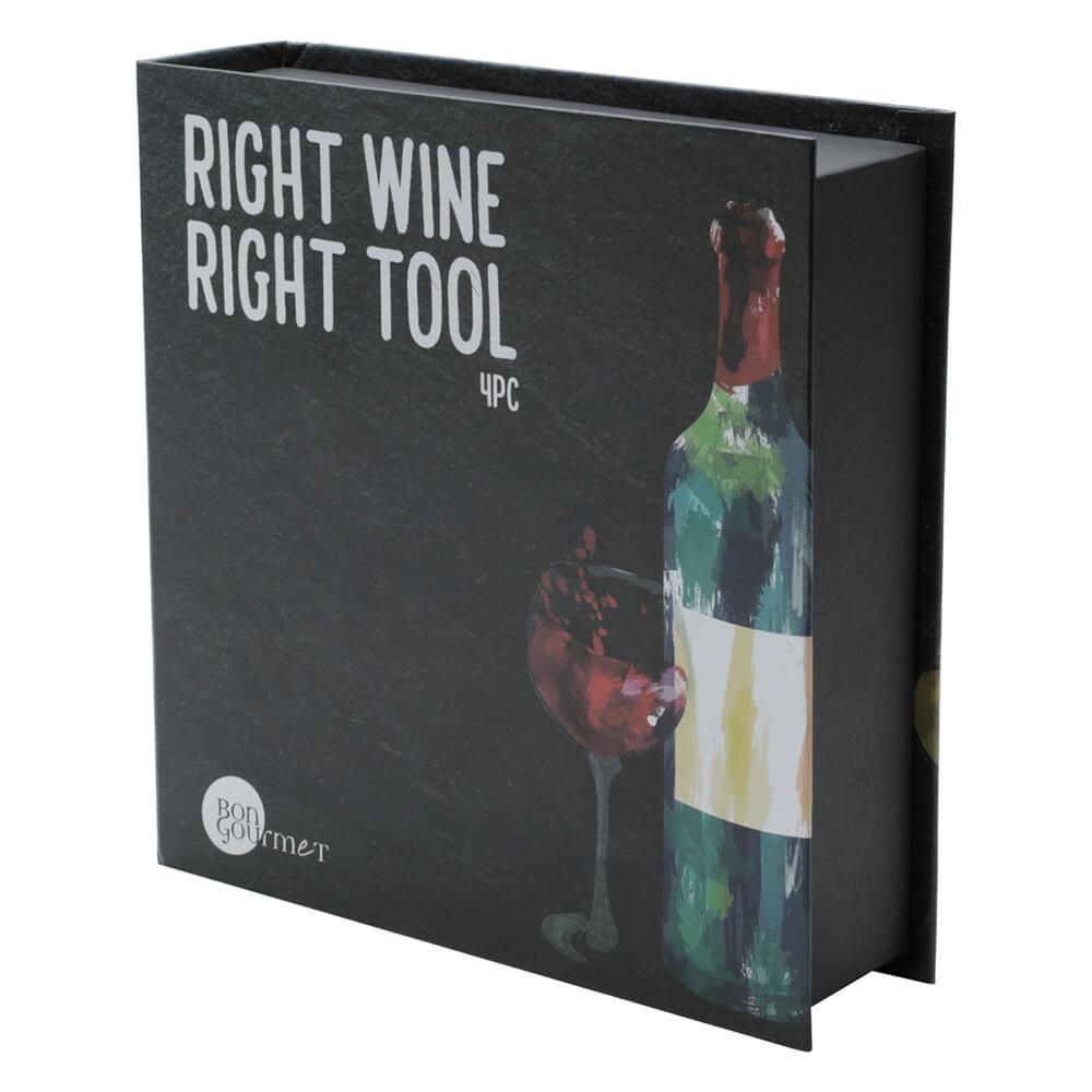Kit para Vinho de Aço Inox 3PÇS