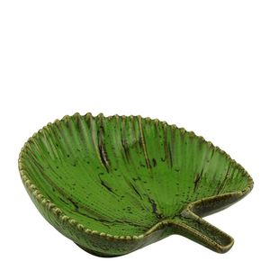 Centro-de-Mesa-de-Ceramica-Folha-Verde-14X14X4CM