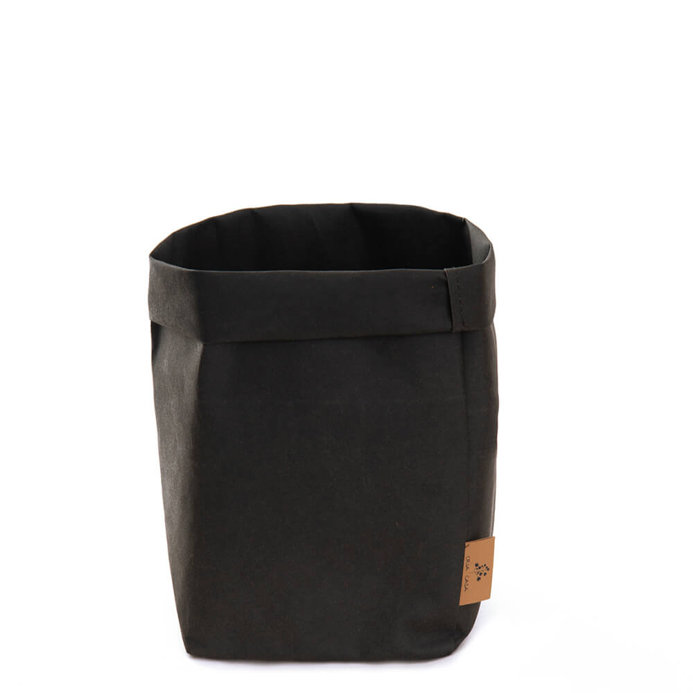 Bag Multiuso Dobrável Kraft Preta 16,5X10X30CM