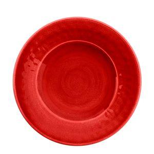Prato-Sobremesa-de-Melamina-Tar-Hong-Vermelho-22CM