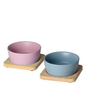 Petisqueira-de-Ceramica-com-Base-de-Bambu-Azul-e-Rosa-10CM-2PCS