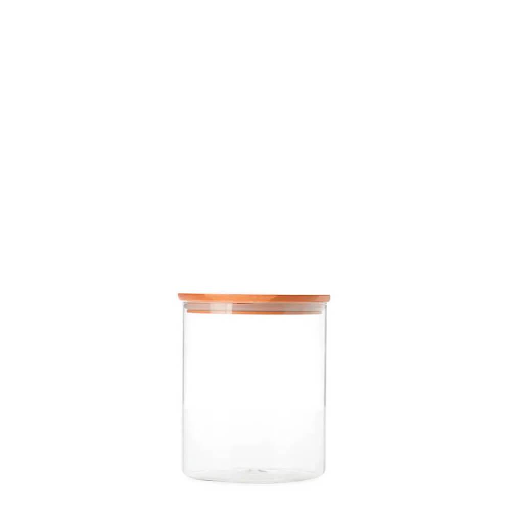 Pote de Vidro Hermético com Tampa de Bambu 200ML