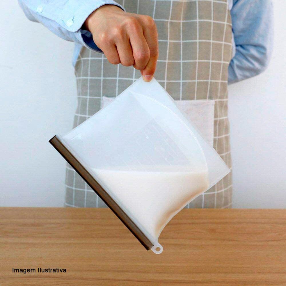Saco de Silicone Freezer e Micro-Ondas Transparente 20X17CM 1L
