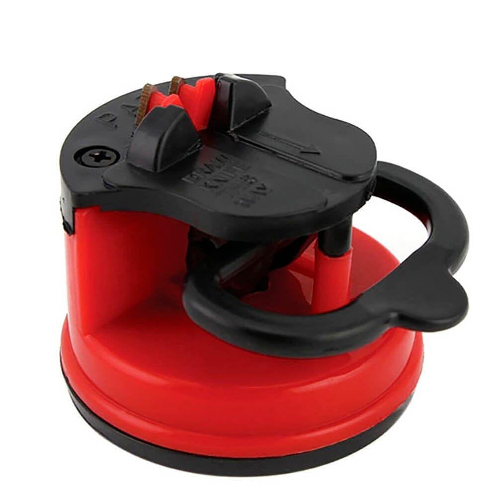 Afiador de Facas Vermelho e Preto 6CM