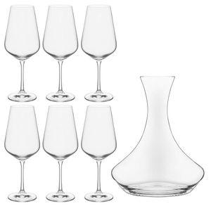Decanter-e-Tacas-de-Vinho-Sandra-Bohemia-7PCS