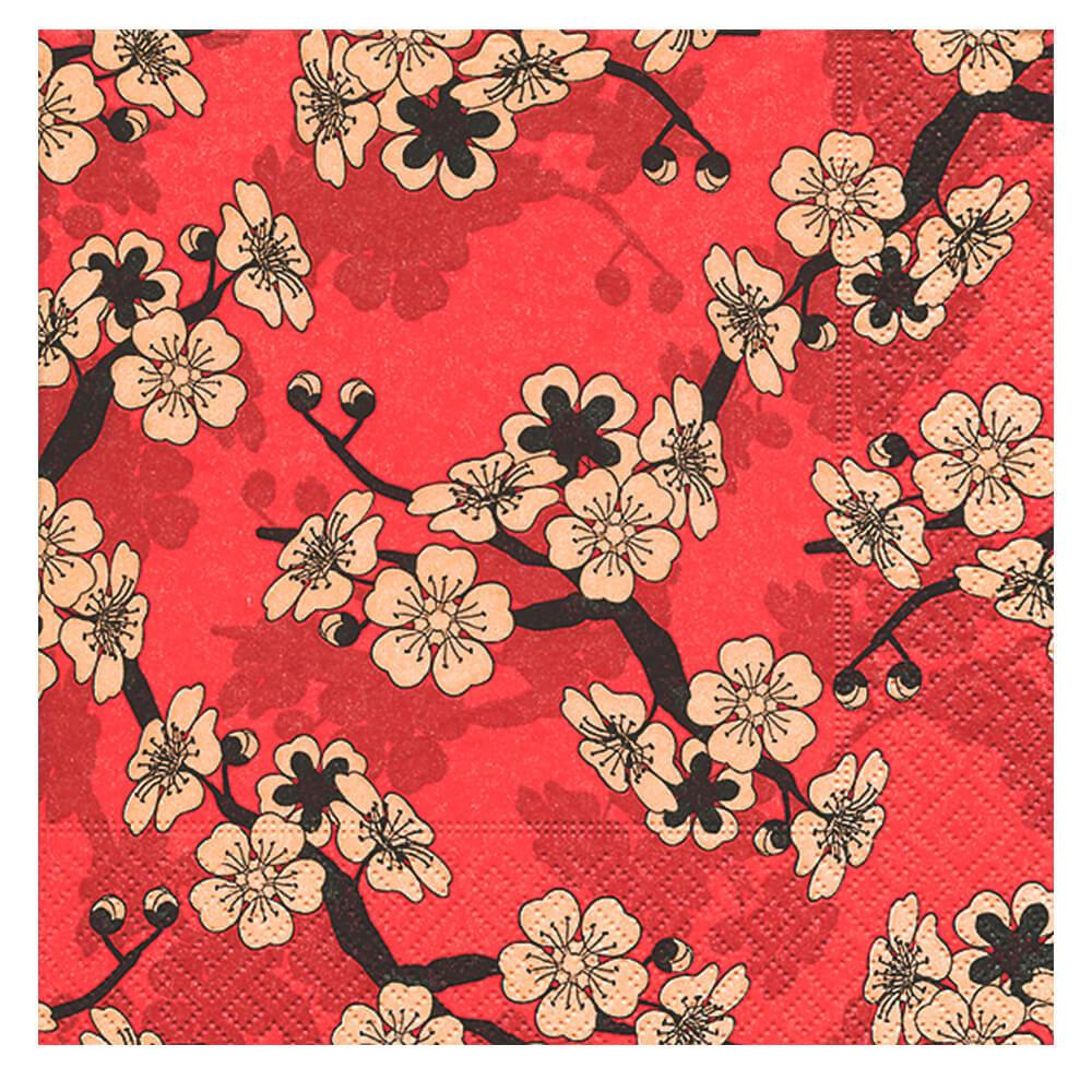 Guardanapo de Papel Asian Flowers 20PÇS 33X33CM