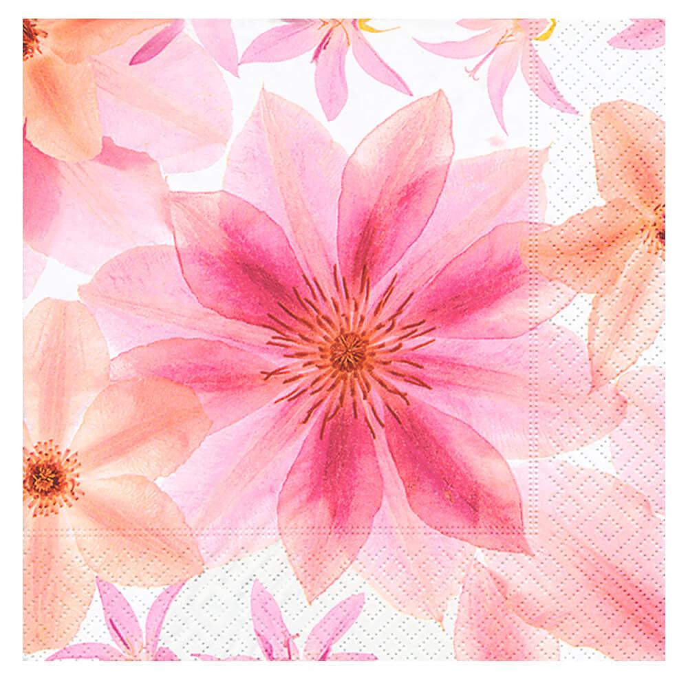 Guardanapo de Papel Pressed Flowers 20PÇS 33X33CM