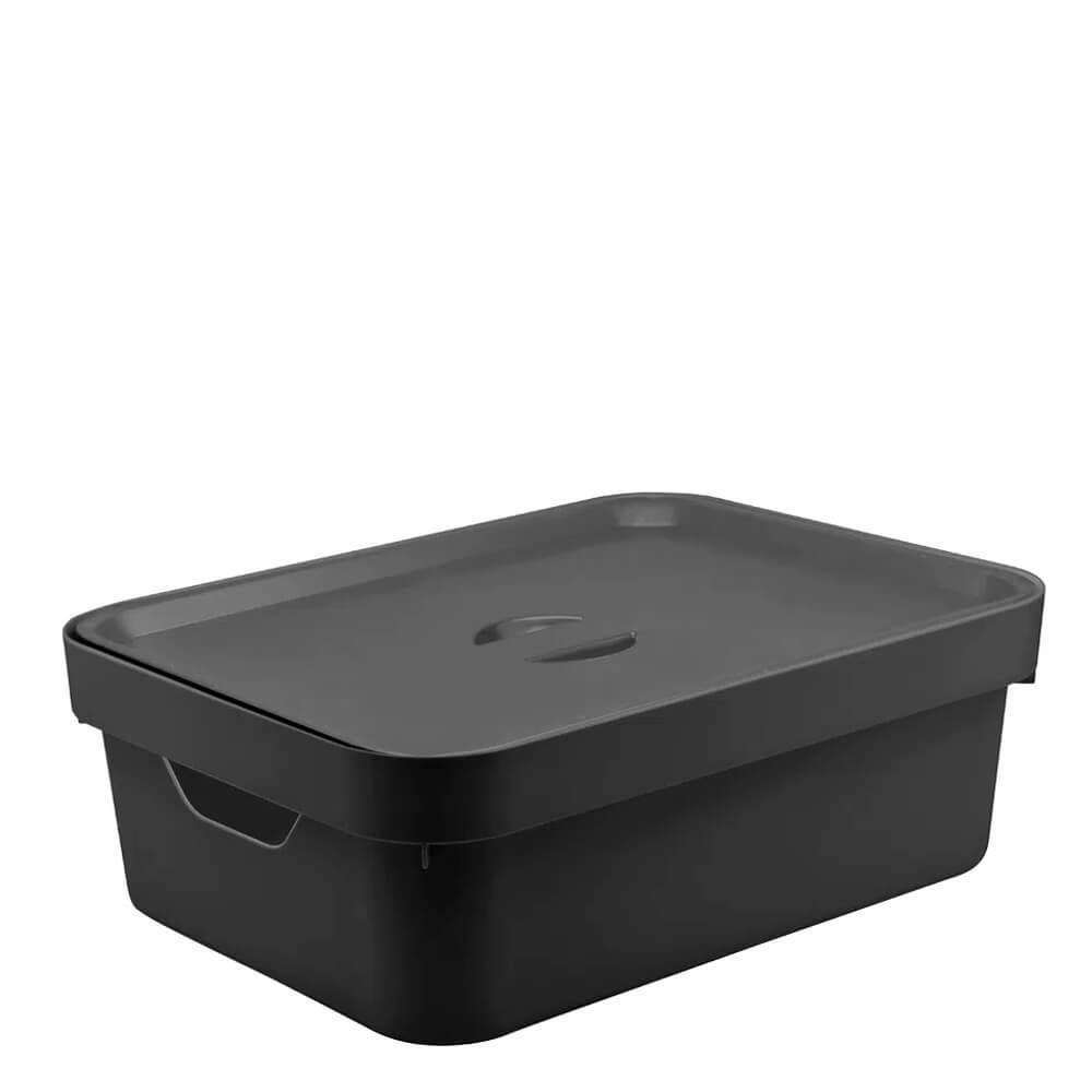 Caixa Organizadora com Tampa Cube OU Preta 36X26X13CM