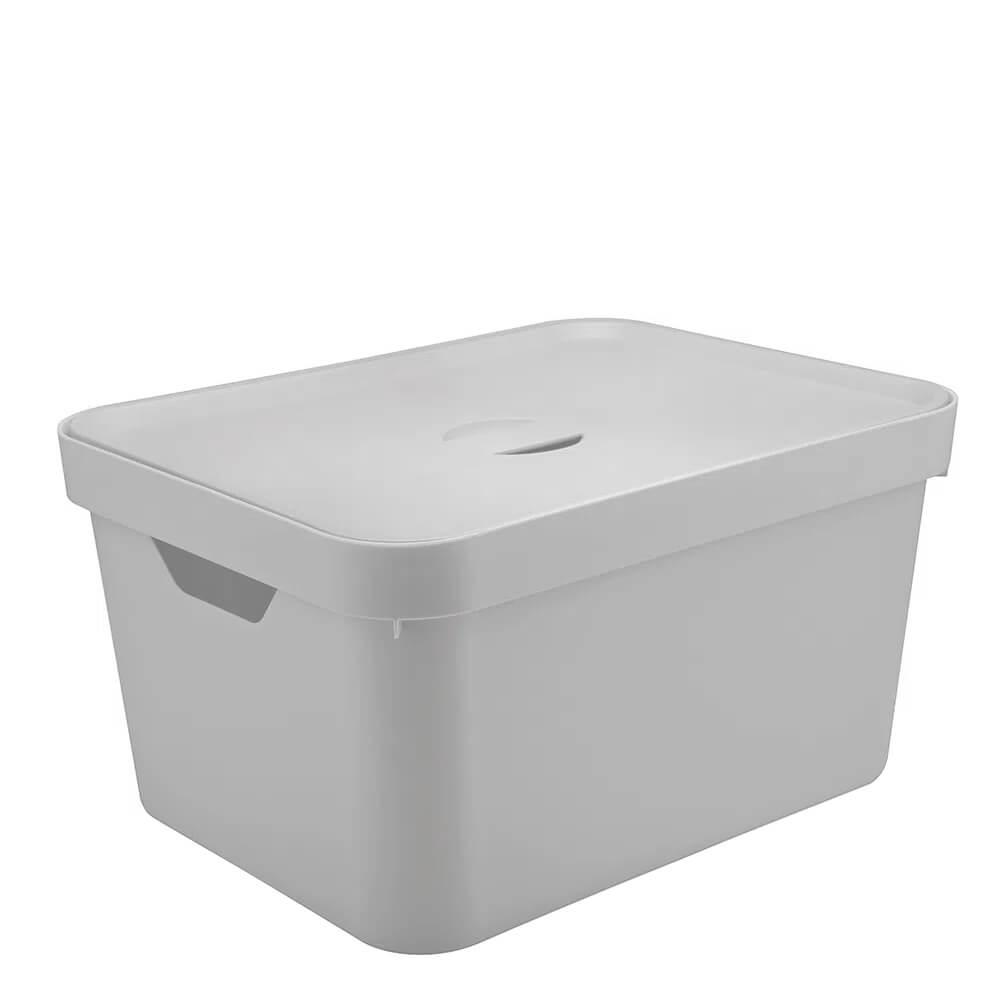 Caixa Organizadora com Tampa Cube OU Branca 45X35X24CM