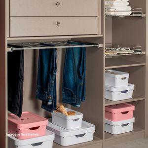 Caixa-Organizadora-com-Tampa-Cube-OU-Azul-Glacial-45X35X24CM