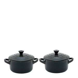 Conjunto-Mini-Cocotte-de-Ceramica-Le-Creuset-Preta-250ML-2PCS