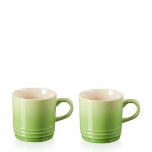 Conjunto-Caneca-de-Ceramica-Cappuccino-Le-Creuset-Verde-Palm-200ML-2PCS