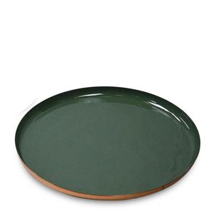 Bandeja-de-Metal-Esmaltada-Verde-e-Dourada-50CM